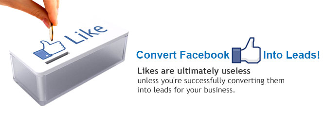 convert facebook like into customer